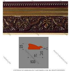 Ảnh mặt cắt Picture frames, photo frames model 533BY