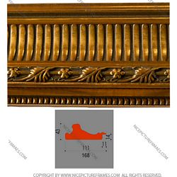 Frame profile for framing picture frames and photo frames model 168Y