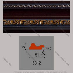 Frame profile for framing picture frames and photo frames model 5312YB